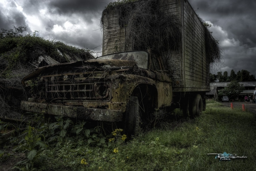 Petersons Upland Farm Delivery Truck